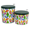 Holiday Lights Popcorn Tin Container Group