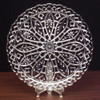 "13 1/4"" Diameter Crystal Cut Tray"