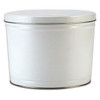 White Solid Popcorn Tin Container