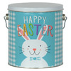 Happy Easter Tall Round Tin Container