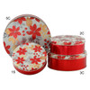 Poinsettias with Pine Round Tin Container Group