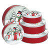 Snow Family Round Tin Container Group
