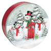 Snow Family Round Tin Container