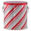 Candy Stripes Tall Round Tin Container