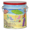 Fun in the Sun Tall Round Tin Container