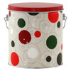Jolly Dots Tall Round Tin Container