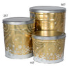 Swirling Snow Popcorn Tin Container Group