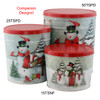 Special Delivery & Snow Family Popcorn Tin Container Group
