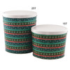 Gift Wrap Popcorn Tin Container Group