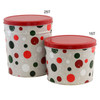 Jolly Dots Popcorn Tin Container Group