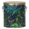 Touch of Gold Tall Round Tin Container