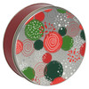 Holiday Sprinkles Round Tin Container