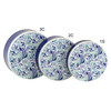 Blue Splendor Round Tin Container Group