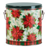 Traditional Holiday Tall Round Tin Container
