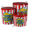 Freshly Popped Popcorn Tin Container Group