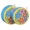 Vivid Floral Round Tin Container Group