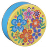 Vivid Floral Round Tin Container