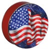Star Spangled Round Tin Container