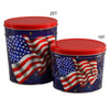 Star Spangled Popcorn Tin Container Group