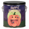 Happy Halloween Tall Round Tin Container