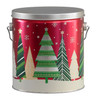 Holiday Trees Tall Round Tin Container