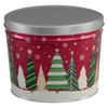 Holiday Trees Popcorn Tin Container