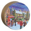 Hometown Holiday Round Tin Container