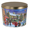 Hometown Holiday Popcorn Tin Container