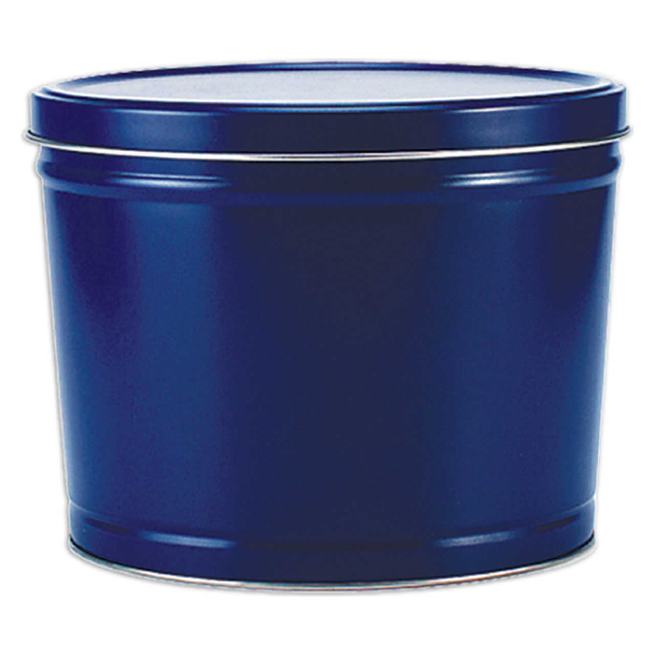 Blue Solid Popcorn Tin Collection Atlantic Can