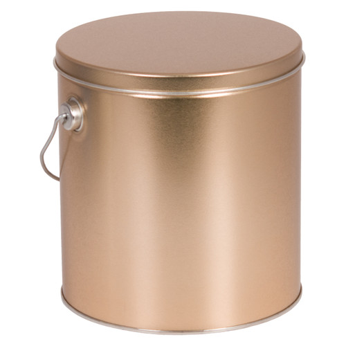 Gold Solid Tall Round Tin Collection
