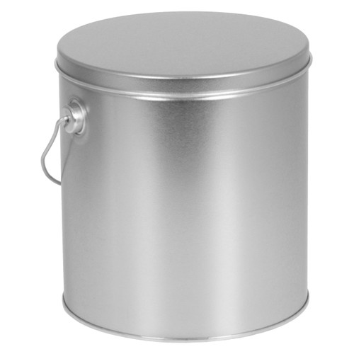 Platinum Solid Tall Round Tin Collection