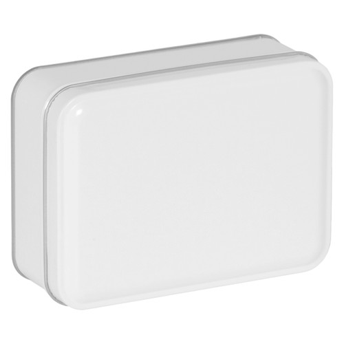 White Solid Rectangle Tin Collection