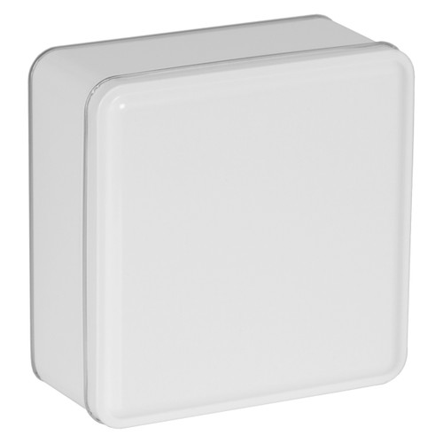 White Solid Square Tin Collection