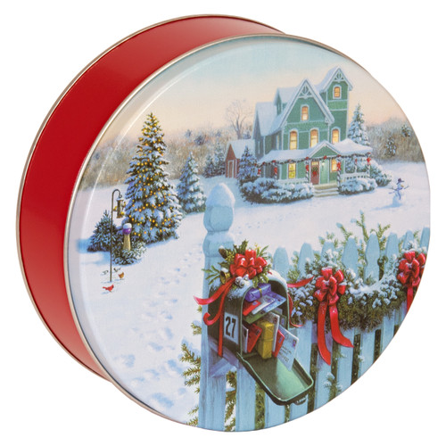 Christmas Mail Cookie Tin Container