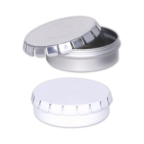 Platinum or White Round Clic-Clac Tin Collection