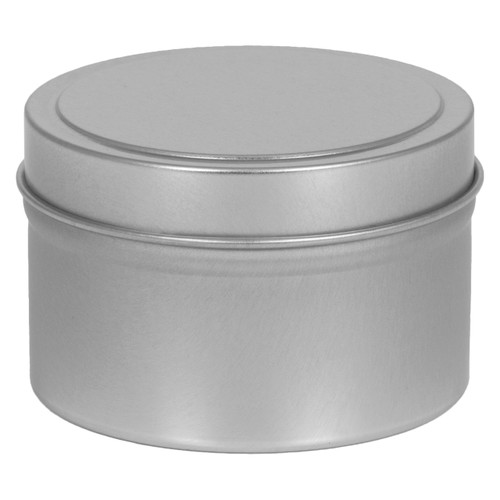 "2 13/16"" Diameter (6oz) Deep Round Seamless Tin Collection"