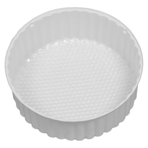 3C Round White Tin Container Inserts