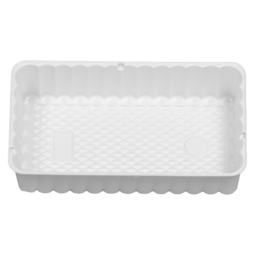 3 Rec White Tin Container Inserts