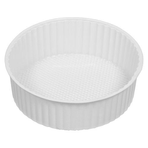5C Round White Tin Container Inserts