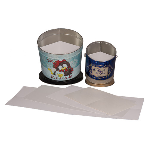 3-Way Popcorn Tin Container Dividers