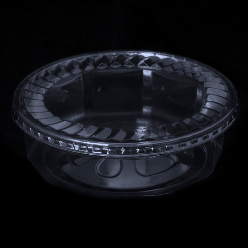 "7"" Faceted Clear Plastic Tubs (18oz)(28oz)(32oz)(48oz)"