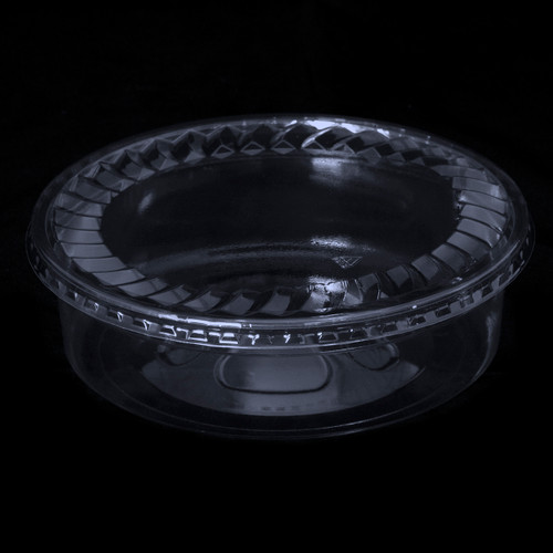 "7"" Round Clear Plastic Tubs (28oz) and (32oz)"
