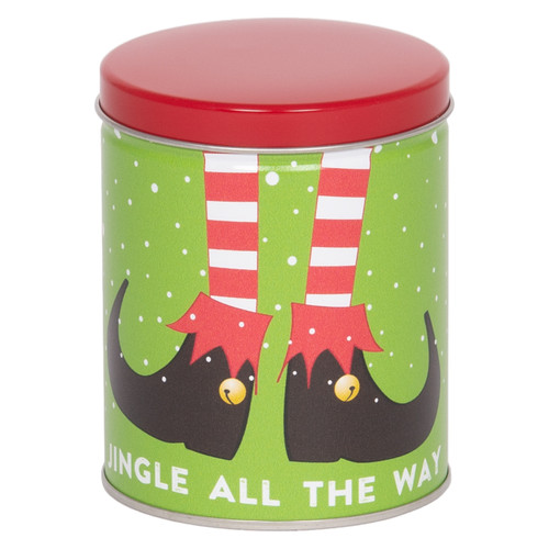 Holiday Elf Tall Round Tin Collection