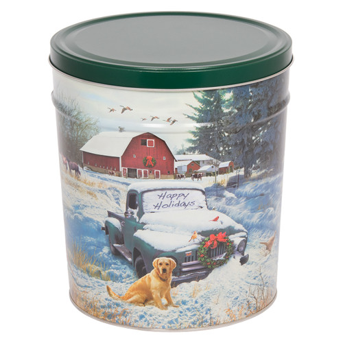 Countryside Christmas Popcorn Tin Collection