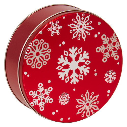Red with Snowflakes Tin Collection