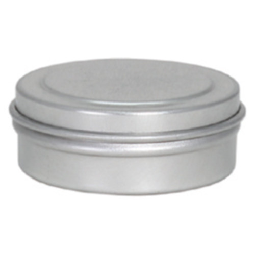 "1 5/16"" x 7/16"" Seamless Tin Container Platinum and Silver"
