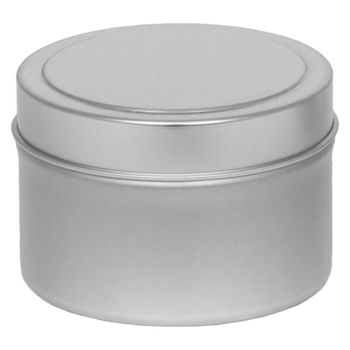 "2 9/16"" Diameter (4 oz.) Deep Round Seamless Tin Collection"