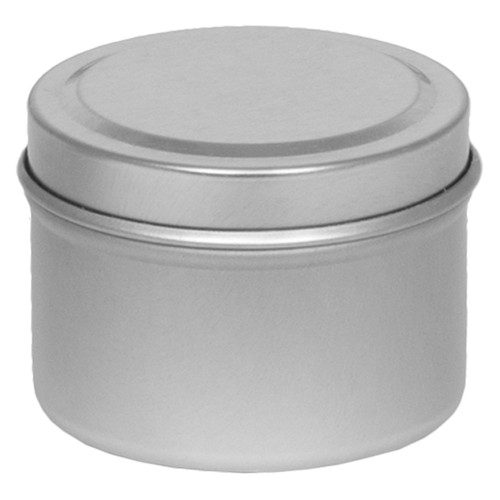 "2 1/16"" X 1 3/8"" Seamless Tin in Color Silver Platinum"