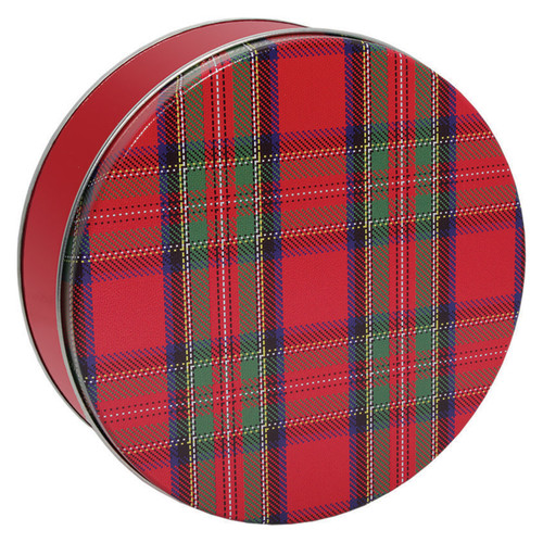 Tartan Plaid Cookie Tin Container