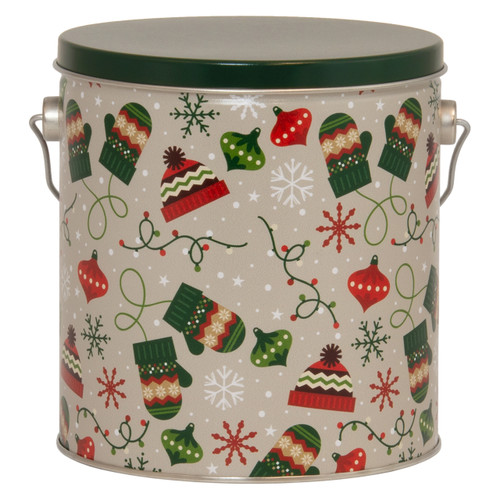 Bundled Up Tall Round Tin Collection